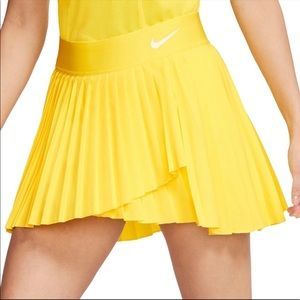 Nike Court Victory Skirt Yellow Pleated